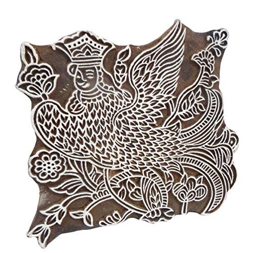 blocco di bollo di legno di arredamento indiano blocchi decorativi favola francobolli firmati a mano blocco bollo stampa texture 1