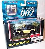 corgi james bond 007 goldfinger rolls royce car and data cards set 1.43 scale diecast model