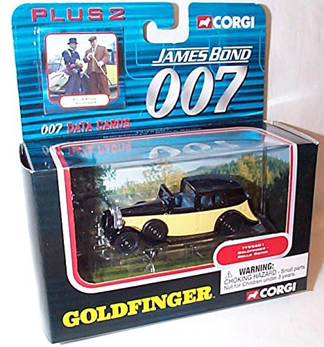 corgi-james-bond-007-goldfinger-rolls-royce-car-and-data-cards-set-150ish-scale-diecast-model