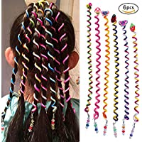 Girl Hair Styling Twister Clip Braider Tool DIY Accessories with Cartoon Head 6PCS/Set (Type 2)