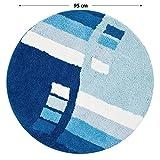 casa pura Tappeto da Bagno Moderno Henry | Morbido e ipoallergico | Rotondo, Diametro 95 cm