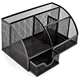 Best Desk Organizers - Mesh Desk Organizer Pen Holder 6 Components Office Review