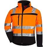 NITRAS Motion TEX VIZ Veste Softshell Haute visibilité   Veste de Travail avec Bordure réfléchissante 3M   Coupe-Vent