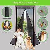 Supmaker Premium magnétique porte moustiquaire, Instant Bug en maille filet avec Top-to-bottom d'étanchéité, EST actionnée comme par Magie pour une mains libres anti-insectes Rideau