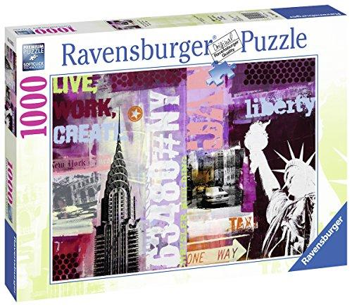 Ravensburger Italy 196135 - Puzzle Collage New York City, 1000 Pezzi, Multicolore