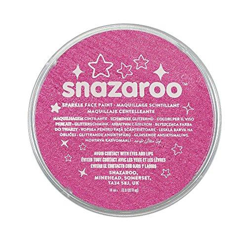 Snazaroo 1118581 Kinderschminke, hautfreundliche hypoallergene Gesichtschminke auf Wasserbasis, wasservermalbar, parabenfrei, schimmernd rosa, 18 ml Topf