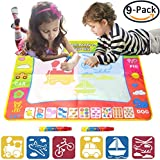 EXSPORT Aqua Doodle Mat 4 Color Children Water Magic Drawing Book Mat Board Kids Educational Toy Gift (1 Pack)