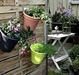 2er Set Hängetopf terracotta Blumentopf Kräutertopf aus Kunststoff für Balkon, Zaun und Garten
