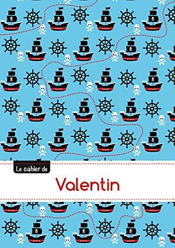 CAHIER VALENTIN BLANC,96P,A5 PIRATES