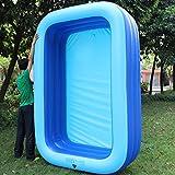 L&J Familie große- Schwimmbad, Aufblasbare Rechteckige Planschbecken Pvc Erwachsenen Kinder-A