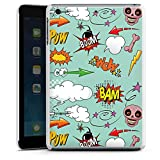 Apple iPad mini 3 Hülle Schutz Hard Case Cover Totenkopf Comic Bombe Sticker Style