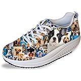 HUGS IDEA Cute Dog Platform scarpe da donna dimagrante