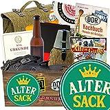 Alter Sack | DDR Korb | mit 7 unterschiedlichen NVA Produkten | INKL Aufkleber - Alter Sack