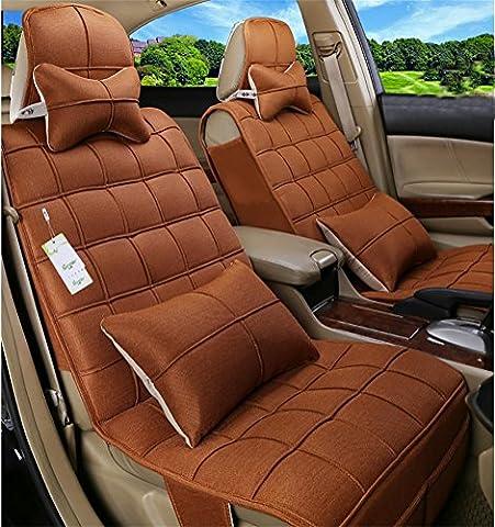 RUIRUI Linge de confort Coussins de siège (Airbag compatible), Fit Most Car, Truck, Suv ou Van , yellow