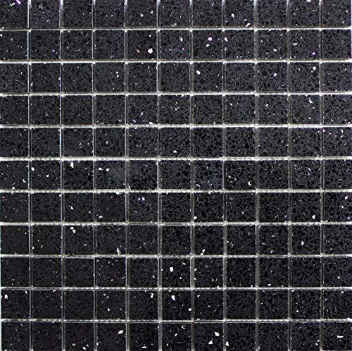 Artificial - Piastrelle a mosaico al quarzo, in pietra artificiale, per bagno e cucina, specchietti per piastrelle, rivestimenti per mobili da bagno, 10 tappetini a mosaico