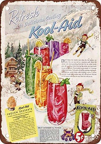 1949kool-aid-aspecto-vintage-reproduccin-metal-tin-sign-7x-10pulgadas