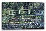 Printed Paintings Leinwand (120x80cm): Claude Monet - Seerosen und Japanische Brücke