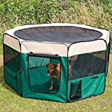 weiche tragbar 8Seitenteile leicht faltbare Laufstall Käfig für Hund Katze Puppy Guinea Pig in 3Farben & 2Größen Blau Pink und Grün