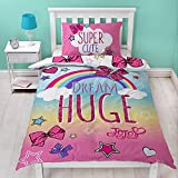 Jo Jo Siwa Bettwäsche-Set mit passendem Kissenbezug, Einzelbett, rosa Schleife, wendbares Design