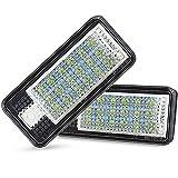 AUXITO LED Kennzeichenbeleuchtung A3/A4/A6/A8/RS4, 6000K Xenon-Weiß für Ersatz, Nummernschilder Lampe Plug & Play, 1210 LED 24-SMD Kennzeichen Beleuchtung 12V DC (2 Stück)