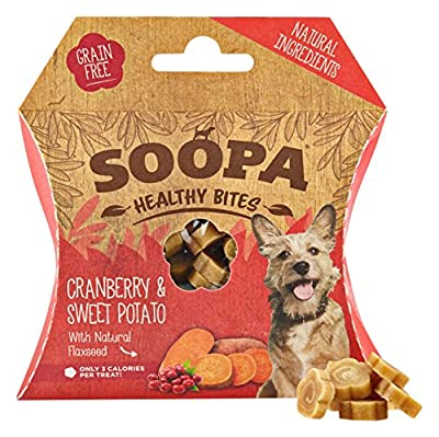 Soopa Cranberry and Sweet Potato Healthy Bites Dog Treat, 50 g