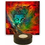 TheYaYaCafe Buddha Tealight Candle Holder Peaceful, Diwali Gifts Puja Items Home - 1