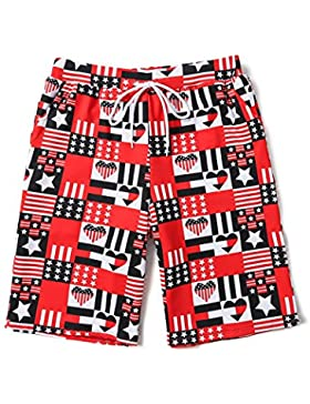 HAIYOUVK Beach Pants Male Quick-Drying Seaside Vacation Couples Seaside Set Loose Spa Hot Pants Pants,Xxl,Stars...