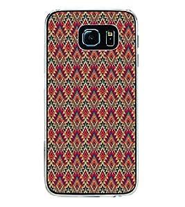 PrintVisa Designer Back Case Cover for Samsung Galaxy S6 Edge :: Samsung Galaxy S6 Edge G925 :: Samsung Galaxy S6 Edge G925I G9250 G925A G925F G925Fq G925K G925L G925S G925T (Cute Diamond Shape Fabric Pattern)