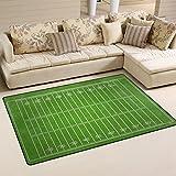 COOSUN Grungy American Football Field Area Rug Carpet Non-Slip Floor Mat Doormats for Living Room Bedroom 78.7 x 50.8 cm ( 31 x 20 inch )