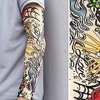 ddellk Sola Manga del Tatuaje, Manguitos Falsos Unisex del Brazo del Tatuaje Manga de la Manga Protectora del Sol de la protección Ultravioleta