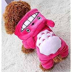 Xiaoyu cachorro cachorro perro mascota ropa de mascotas sudadera abrigo abrigo abrigo cachorro cachorro abrigo abrigo de invierno abrigo perrito traje de moda, rosa, M