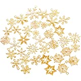 SUPVOX 1 Confezione di ciondoli con Ciondolo Fiocco di Neve di Natale incanta Gioielli per la Produzione di Gioielli Fai-da-T