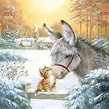 Ambiente tovaglioli di Natale 33/cm foto inverno tovaglioli Squirell /& Robin