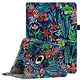 Fintie iPad 9.7 Zoll 2018 2017 / iPad Air Hülle - 360 Grad Rotierend Stand Cover Case Schutzhülle mit Auto Schlaf/Wach Funktion für Apple iPad 9,7'' 2018 2017 / iPad Air 2 / iPad Air, Dschungelnacht