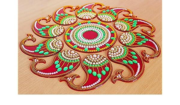 Acrylic-Rangoli-with-Studded-Stones-Floor-Decorations-Design5