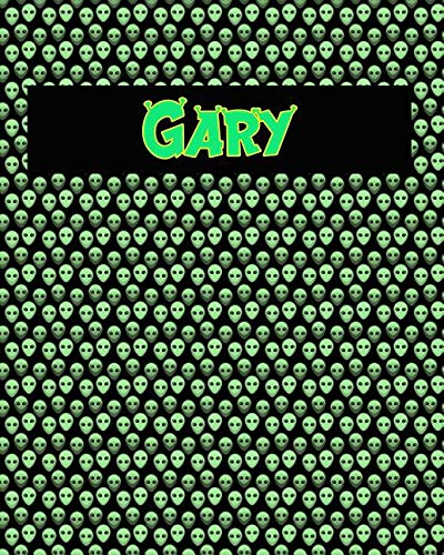 120 Page Handwriting Practice Book with Green Alien Cover Gary: Primary Grades Handwriting Book -