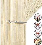 AIZESI Retro Fadenvorhang Insektenschutz Türvorhang 90x 200cm Fliegengitter Fliegenschutz Raumteiler Dekorativer für Hochzeit Café