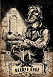 Barber Shop friser tattoo stuhl schild aus blech, metal sign, tin