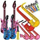 Lictin 14 pcs Inflables de Juguete Inflable Guitarra micrófono...