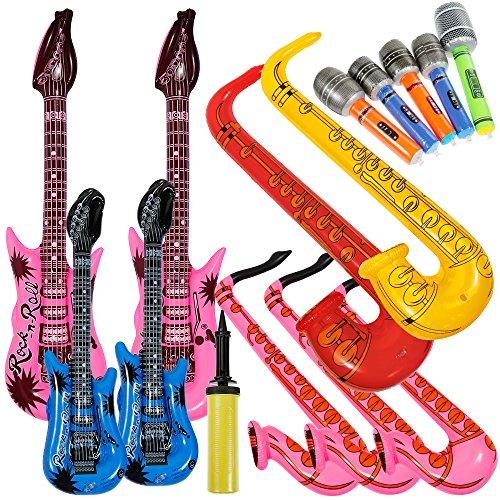 Lictin 14 pcs Inflables Juguete Inflable Guitarra