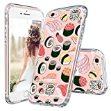 MOSNOVO iPhone 6s Hülle, iPhone 6 Hülle, Cute Design Series Transparent Hart Plastik Hülle Muster TPU Bumper Case Schutzhülle für iPhone 6 6s(4,7 Zoll) (Sushi)