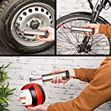 AGT Professional Fahrradpumpe Kompressor: Akku-Kompressor-Luftpumpe für Reifen, Bälle u.v.m, LCD, bis 150 psi (Akku Luftpumpe Autoreifen)