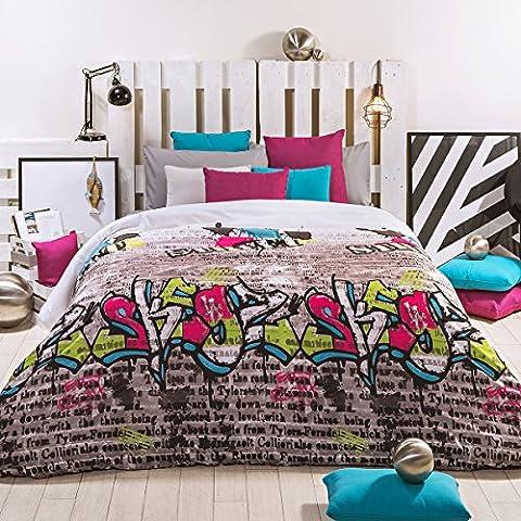 San Carlos Street - Juego funda nórdica, para cama de 150/160, color crema