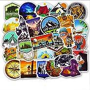 AGOUNOD Waterproof Vinyl Stickers Pack Hiking Camping Travel Case Sticker Door Laptop Luggage Car Sticker 50pc