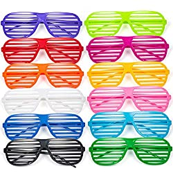 Joeyer 12 Pares Gafas de Sol de Persiana, Gafas de Fiesta Juguete Gafas para Bolsas de Regalo y Fiestas
