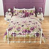 Stylish Cotton Rich Percale Watercolour Floral Duvet Set Single Sized - 135 x 200 cm and one pillowcase 48 x 74 cm
