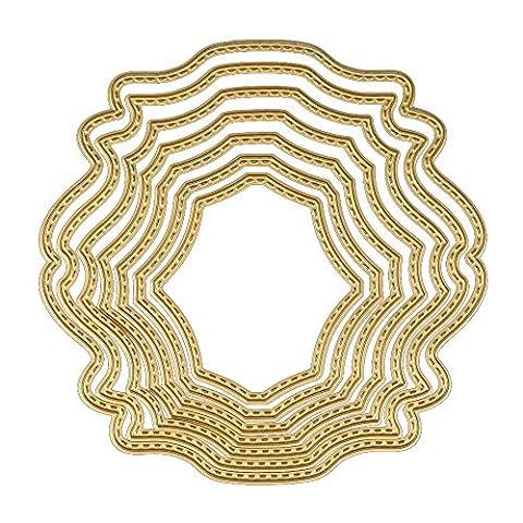 Damark (TM) en métal Die de coupe Dies Pochoirs pour DIY Album de scrapbooking en papier carte Decor Craft, doré,