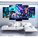 RTYUIHN Canvas Wall Art Modular Picture Home Decoration 5 Pieces Rick and Morty Painting Living Room HD Print Animated Poster