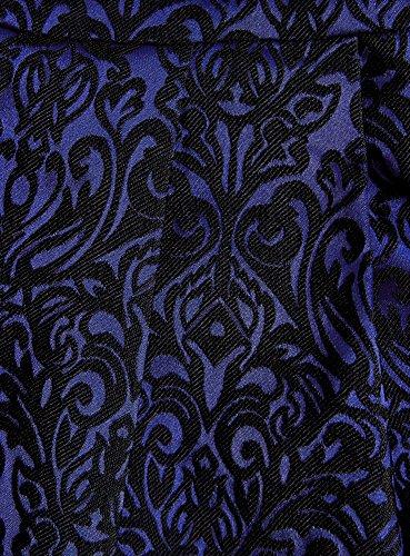 oodji Ultra Femme Robe Ajustée avec Bas Évasé Bleu (7529J)