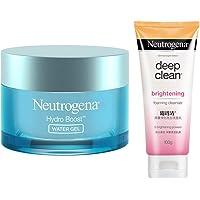 Neutrogena Hydro Boost Water Gel For All Skin Types, 50g & Neutrogena Deep Clean Brightnening Foaming Cleanser For…